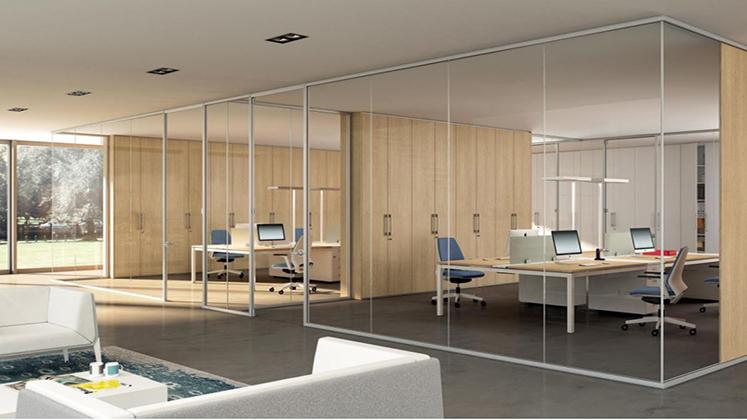 Mobili per ufficio quadrifoglio su for Pareti mobili per ufficio